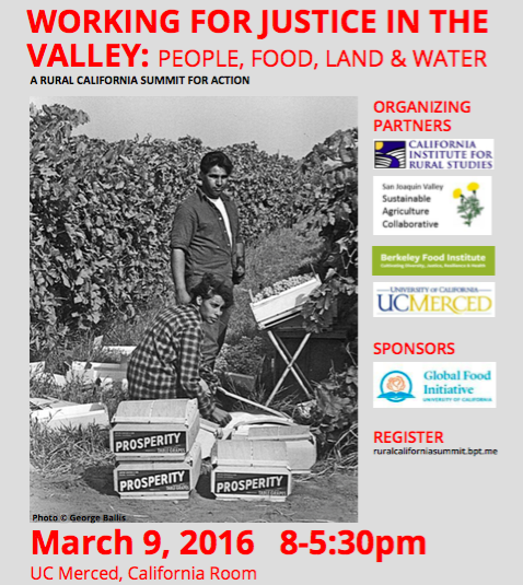 WORKING FOR JUSTICE IN THE VALLEY : People, Food, Land & Water